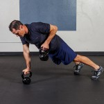 Kettle Bell Plank Row Performance Exercise